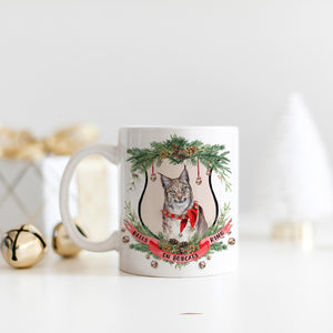 Bells on Bobcats Ring Christmas Mug