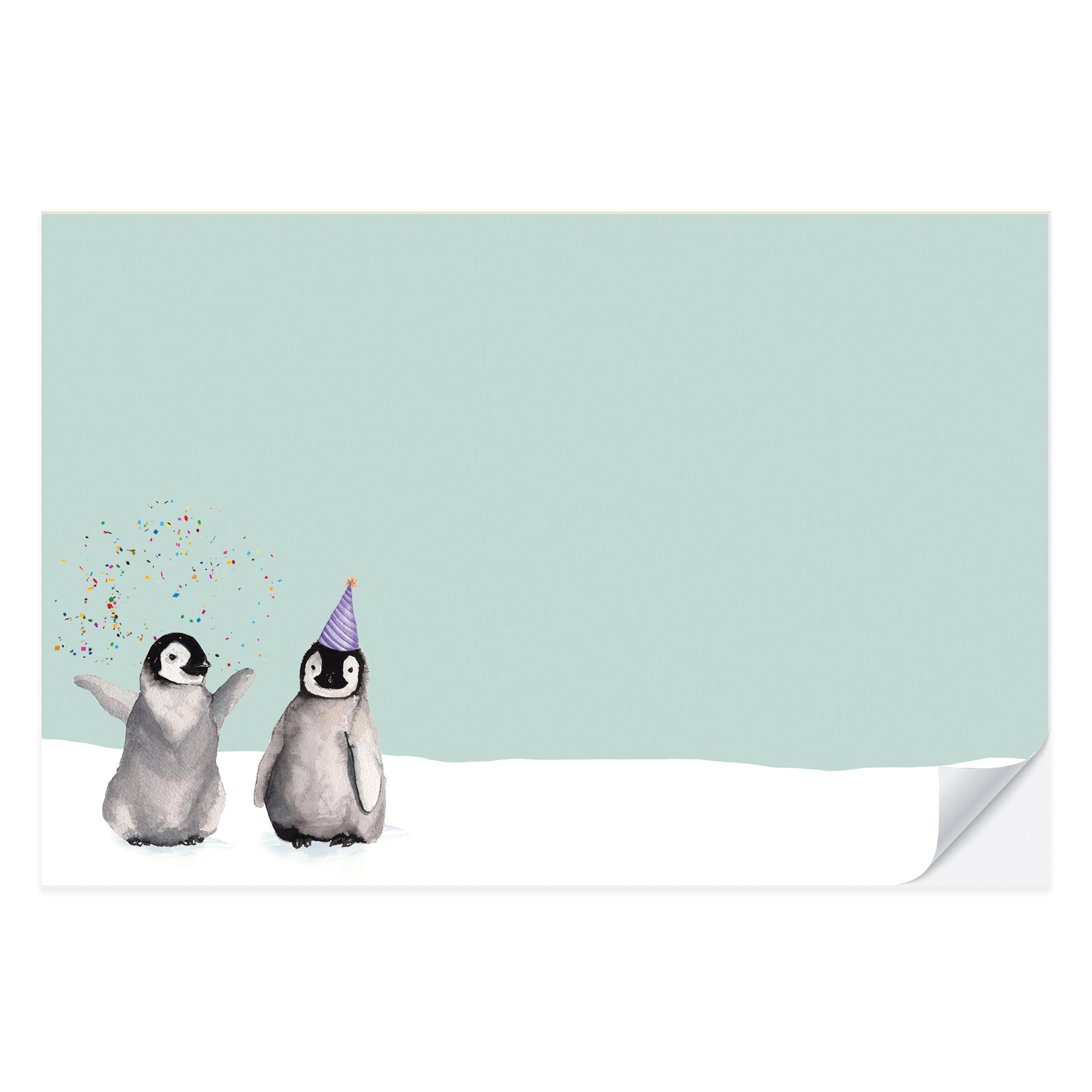 Birthday Penguins Placemat Pad