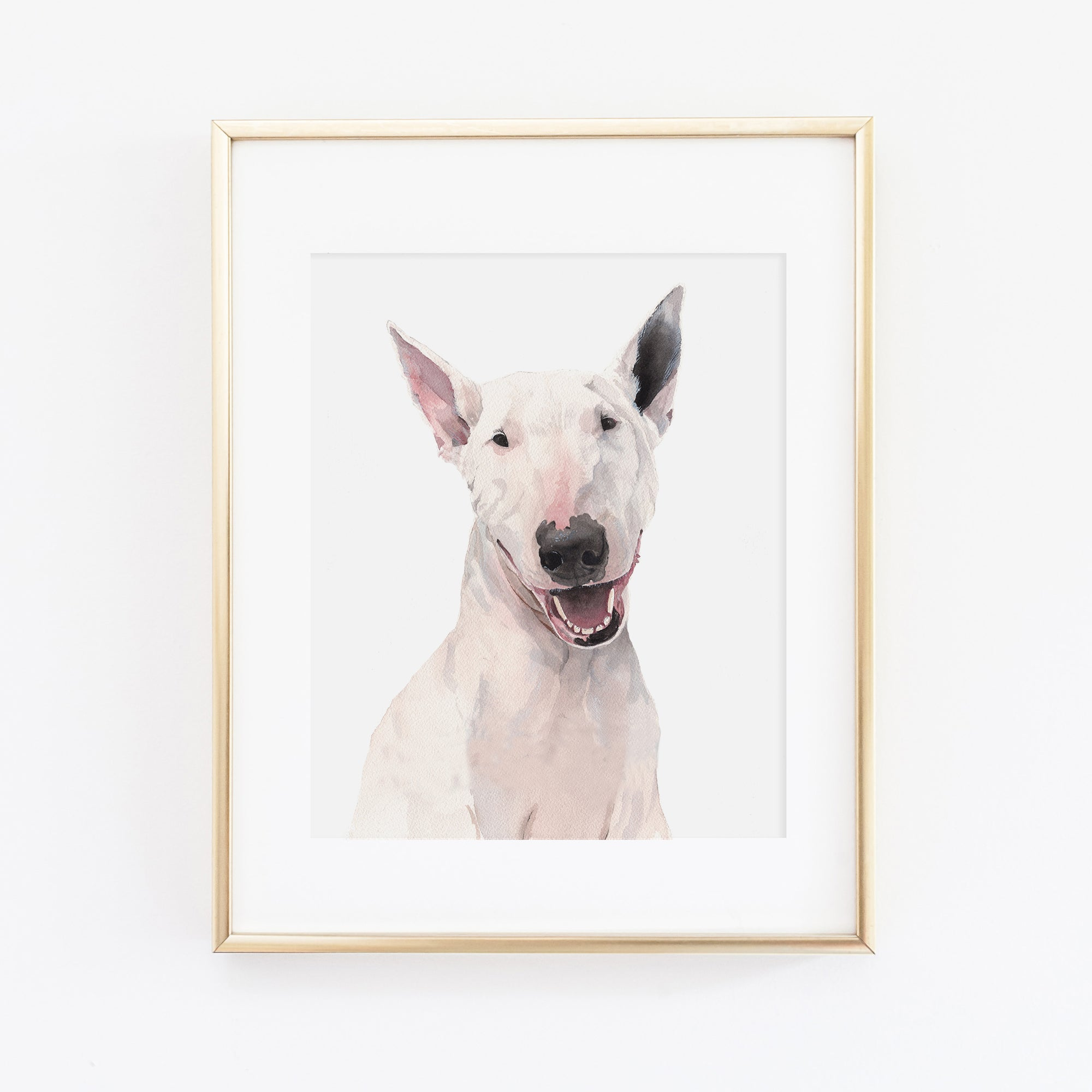 Bull Terrier Dog Art Print - Charlie