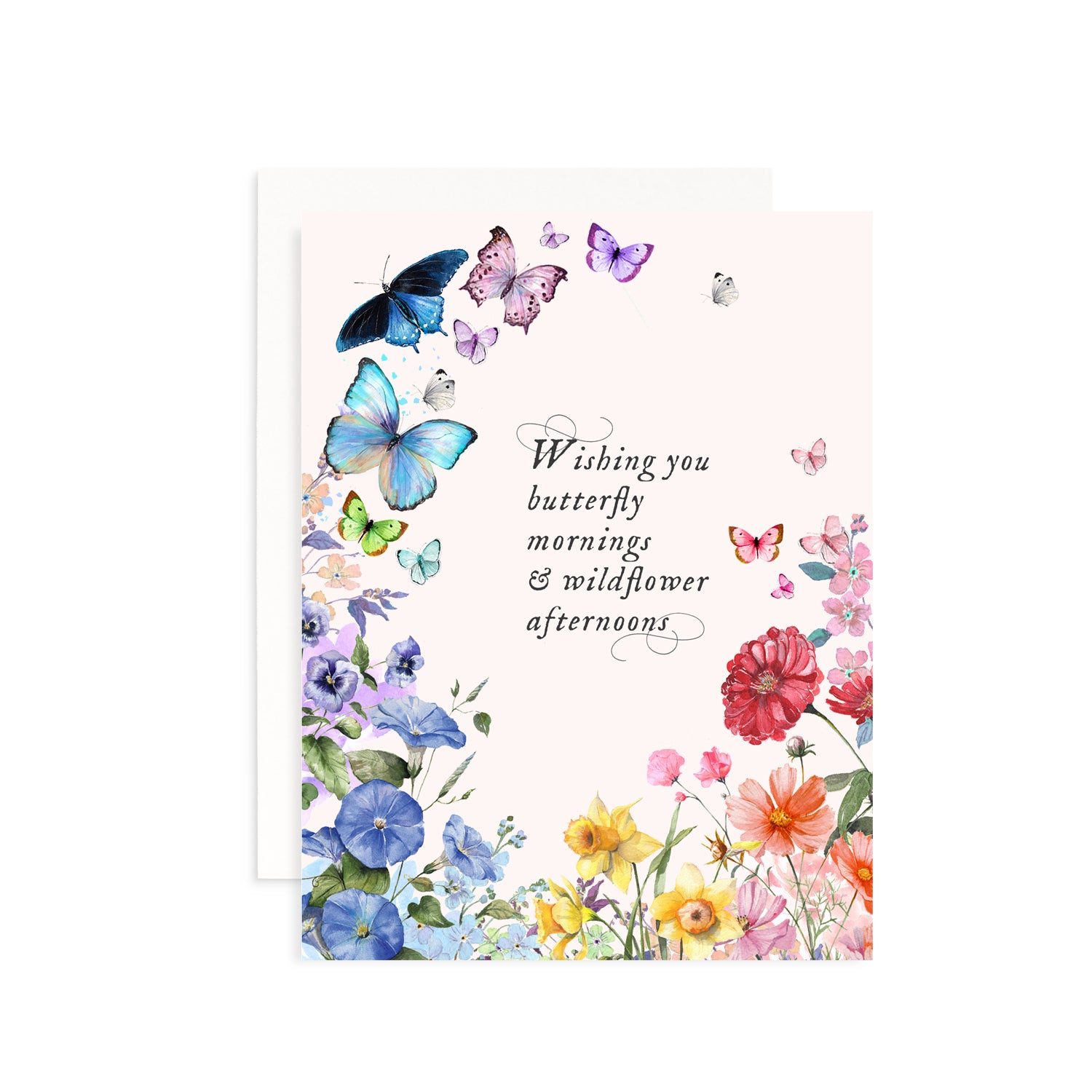 Butterfly Mornings & Wildflowers Afternoons Card