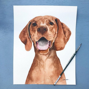 Custom Watercolor Pet Portrait