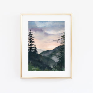 View from Newfound Gap Art Print