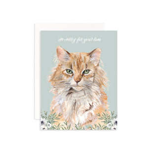 So Sorry for Your Loss (Cat) Greeting Card