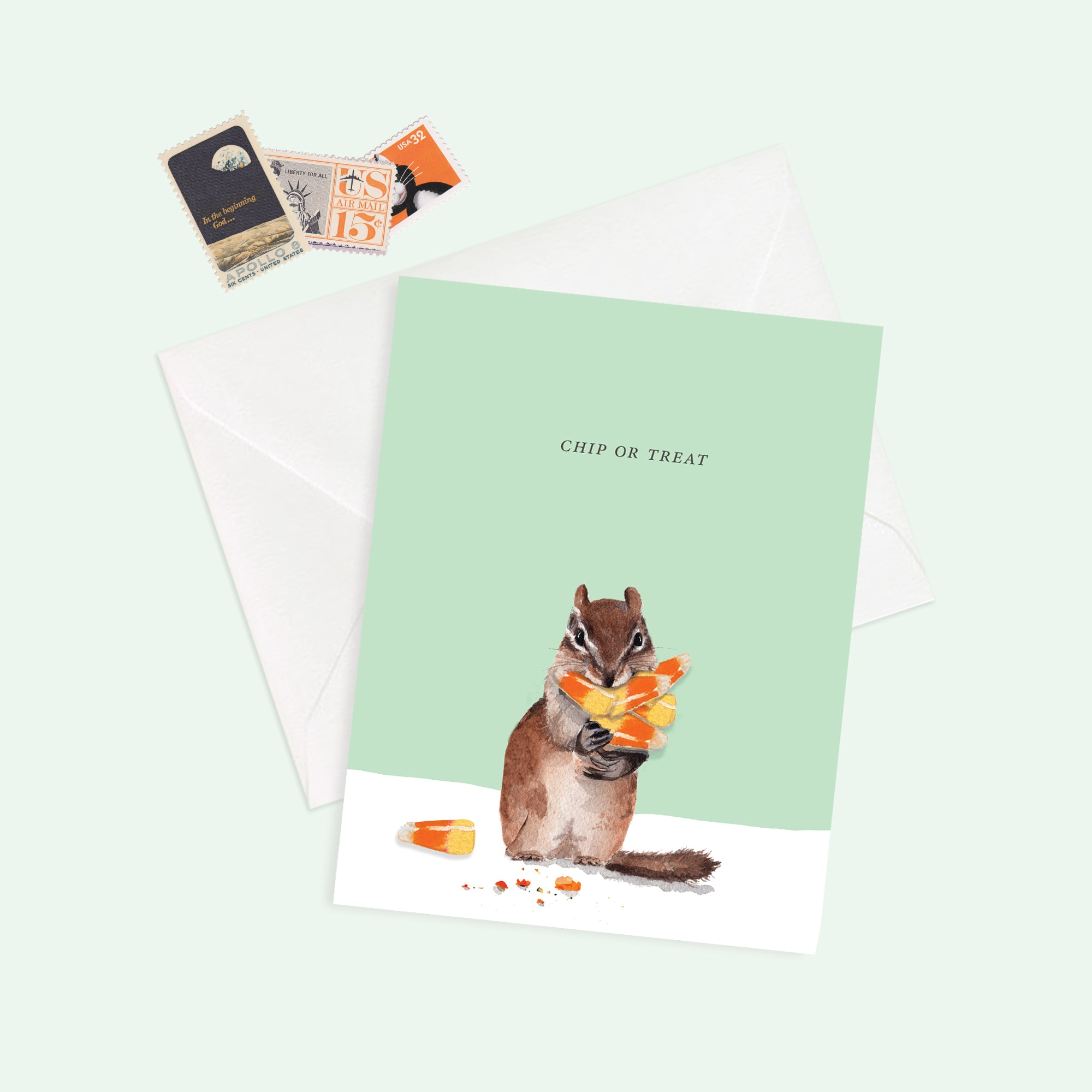 Chip or Treat Greeting Card