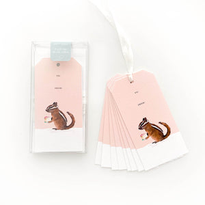 Chipmunk Cake Gift Tags