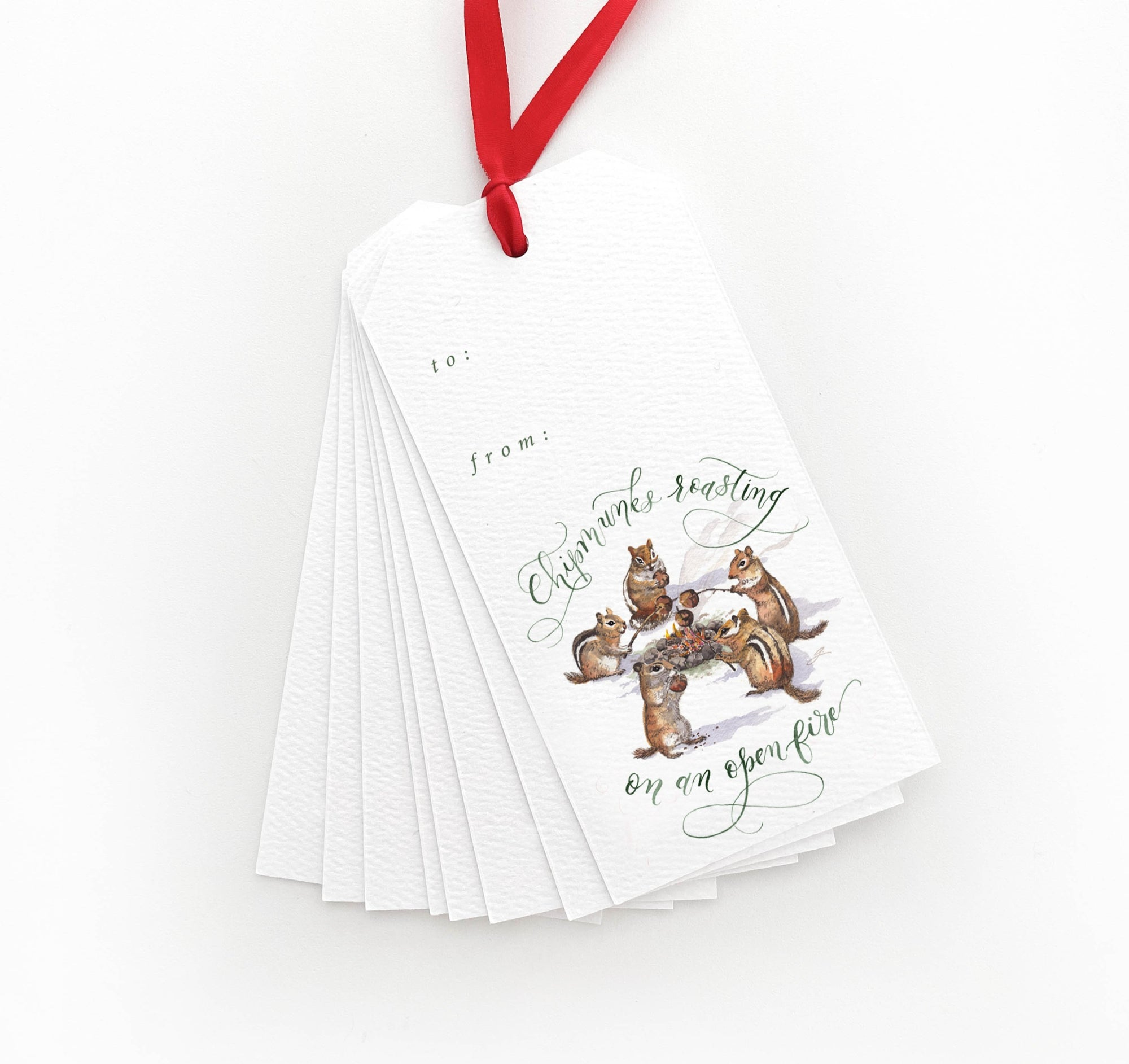 Chipmunks Roasting on an Open Fire Gift Tags | Father-Daughter Collaboration