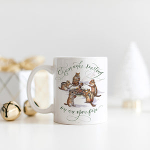 Chipmunks Roasting on an Open Fire Mug | Father-Daughter Collaboration
