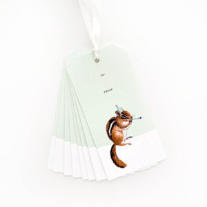 Chipper Birthday Gift Tags