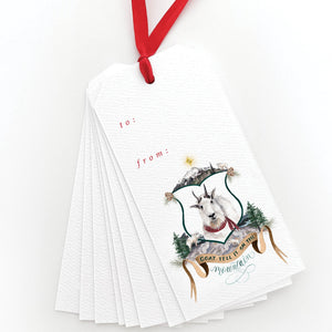 Goat Tell it on the Mountain Gift Tags