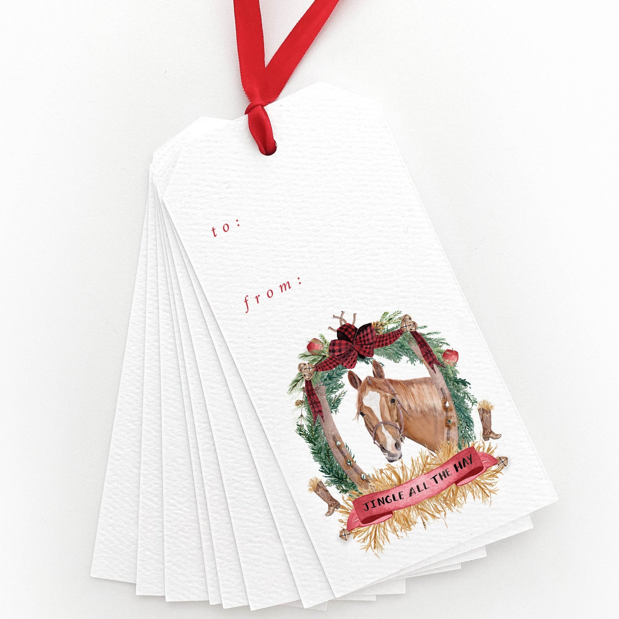 Jingle all the Hay Gift Tags