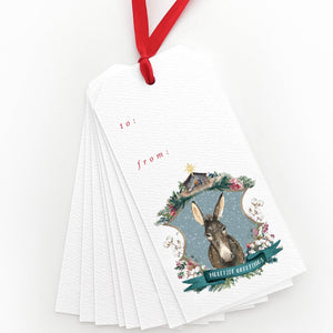 Muletide Greetings Gift Tags