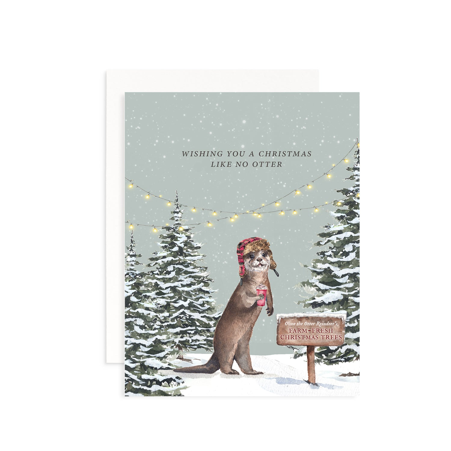 Christmas Like No Otter Greeting Card