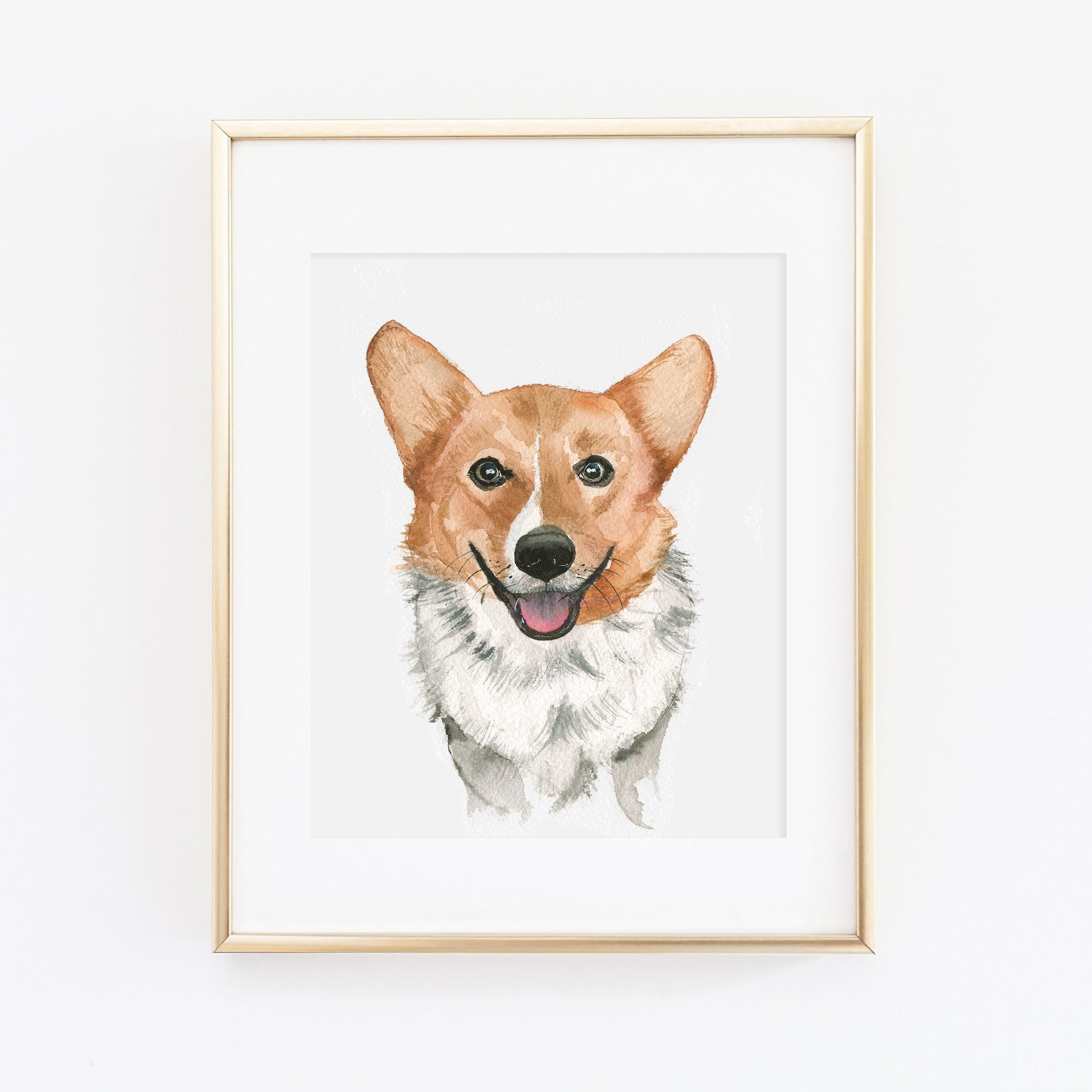 Corgi Dog Art Print - Tory