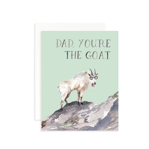 Dad, You're the G.O.A.T. Greeting Card