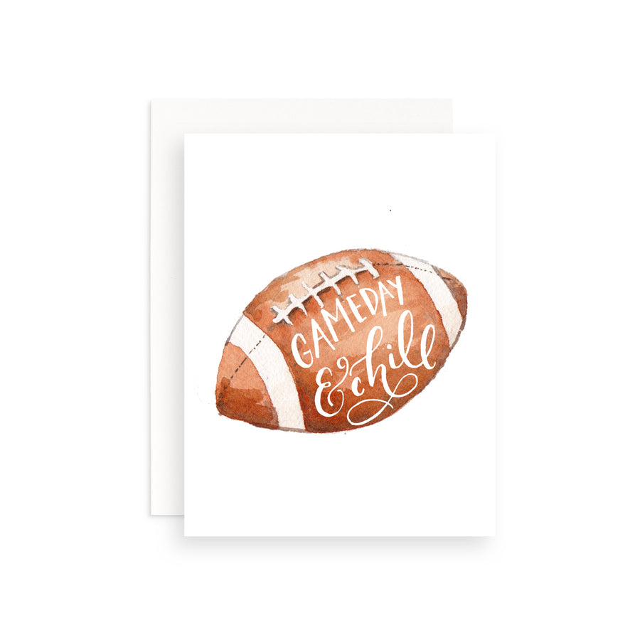 Gameday and Chill Greeting Card