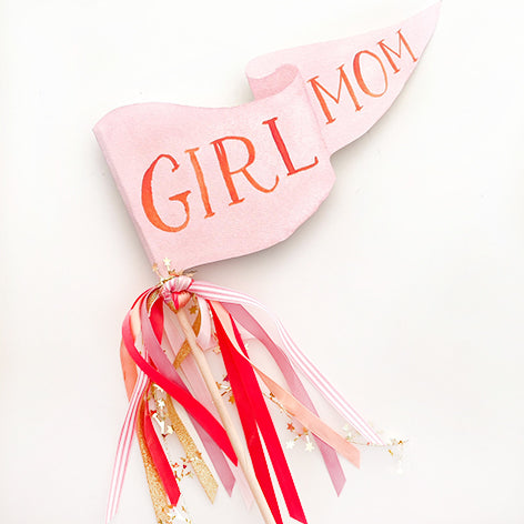 Girl Mom Party Pennant