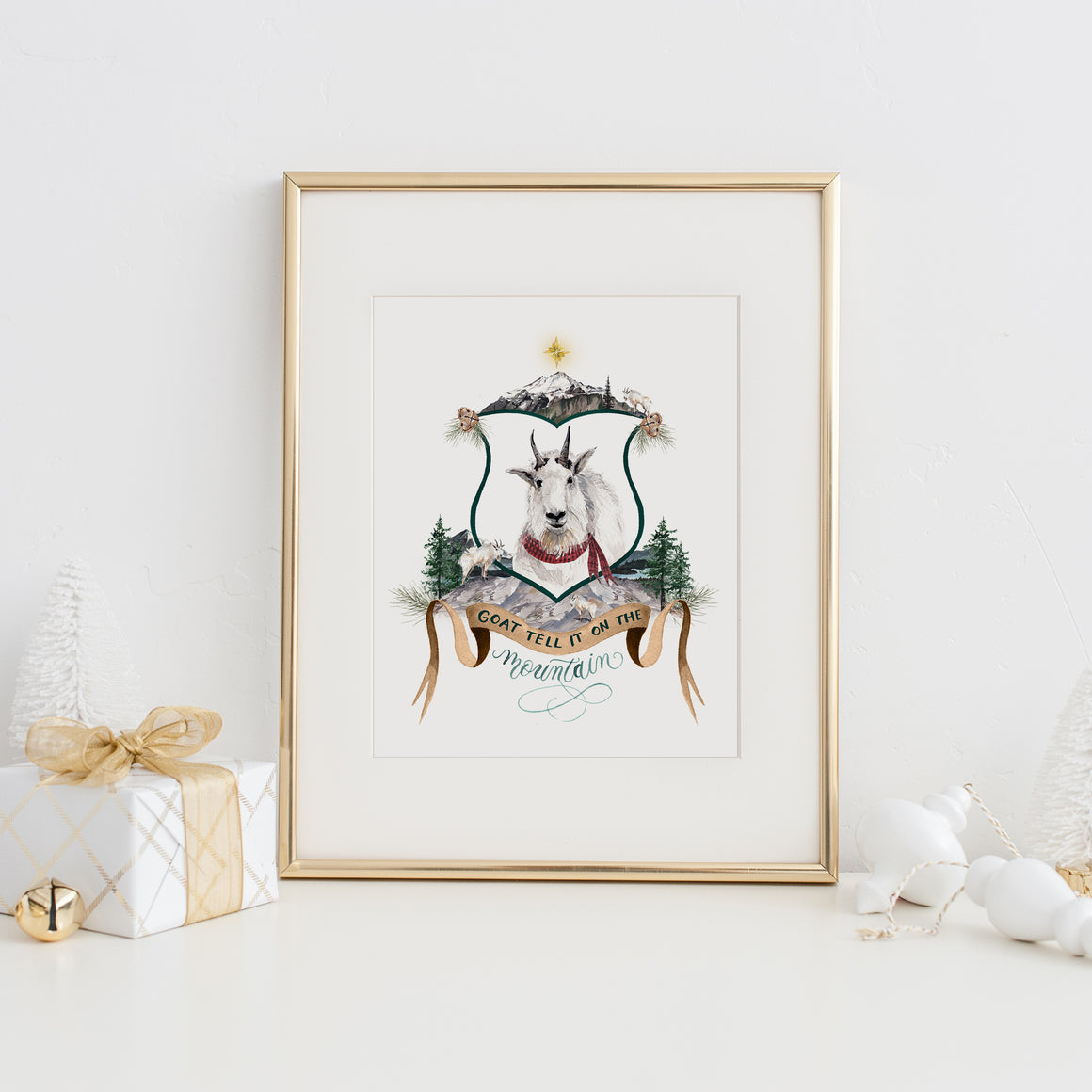 Goat Tell it on the Mountain Art Print
