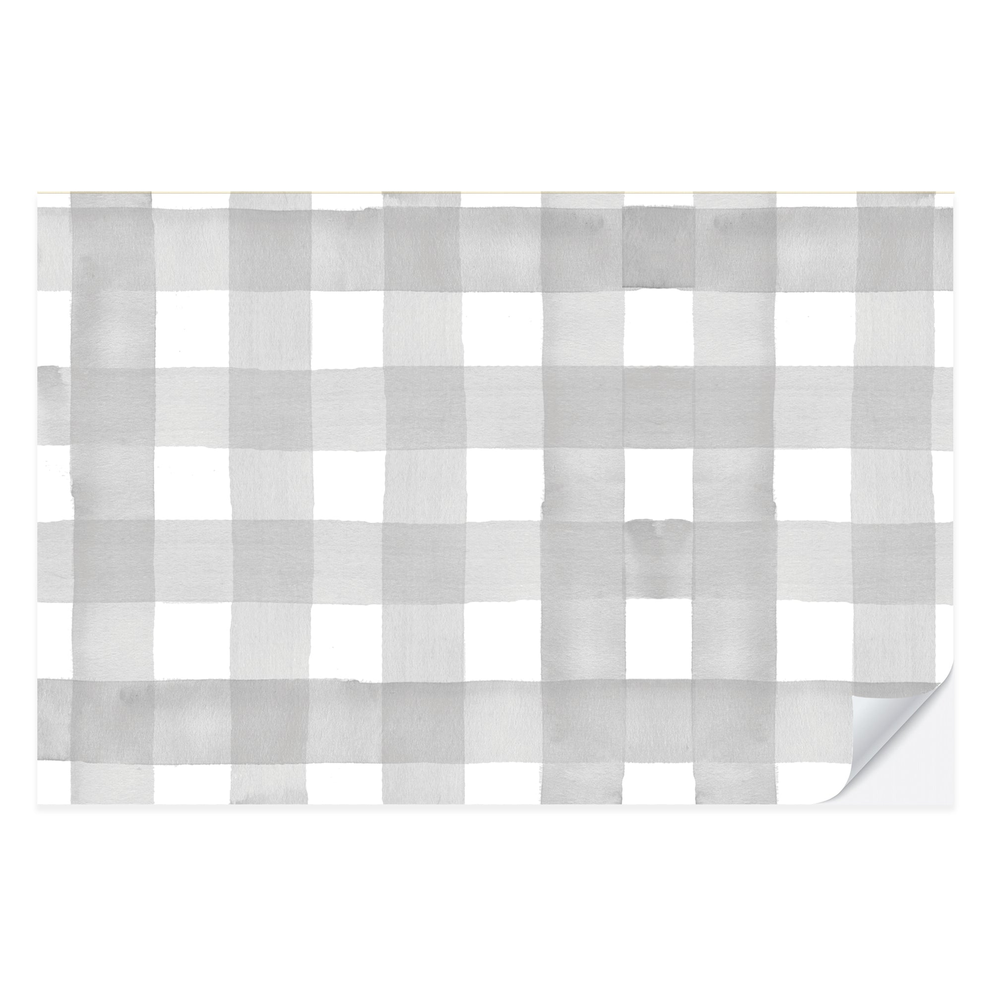 Gray Gingham Placemat Pad