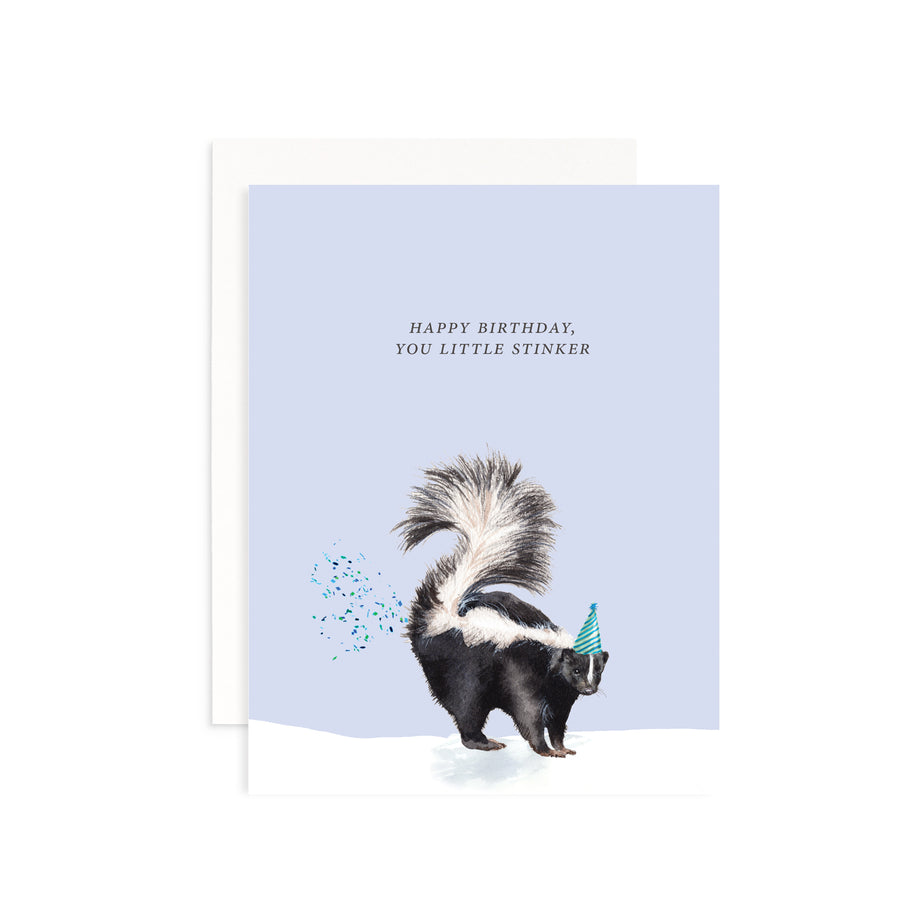Happy Birthday You Little Stinker Greeting Card