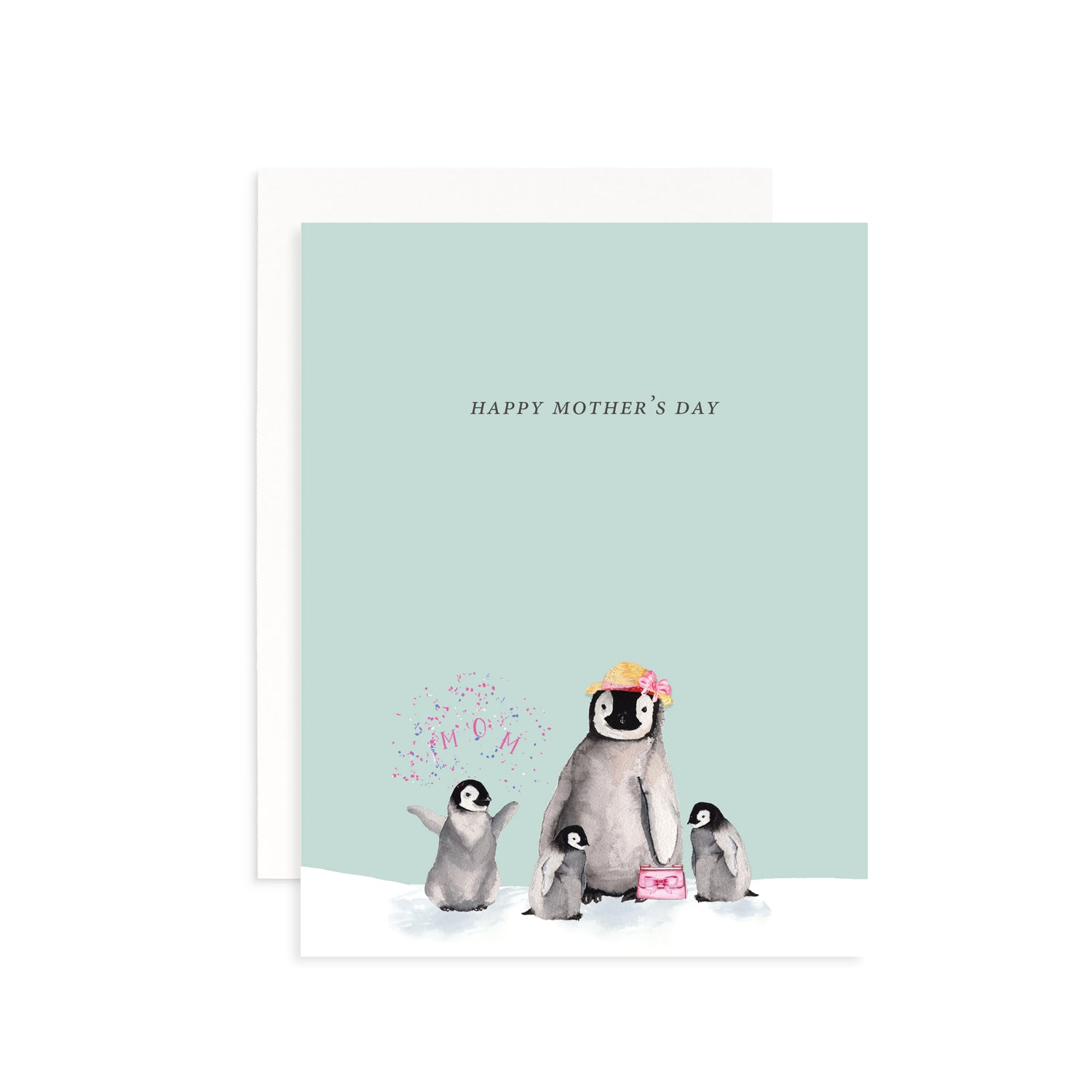 Mother's Day Penguins Greeting Card