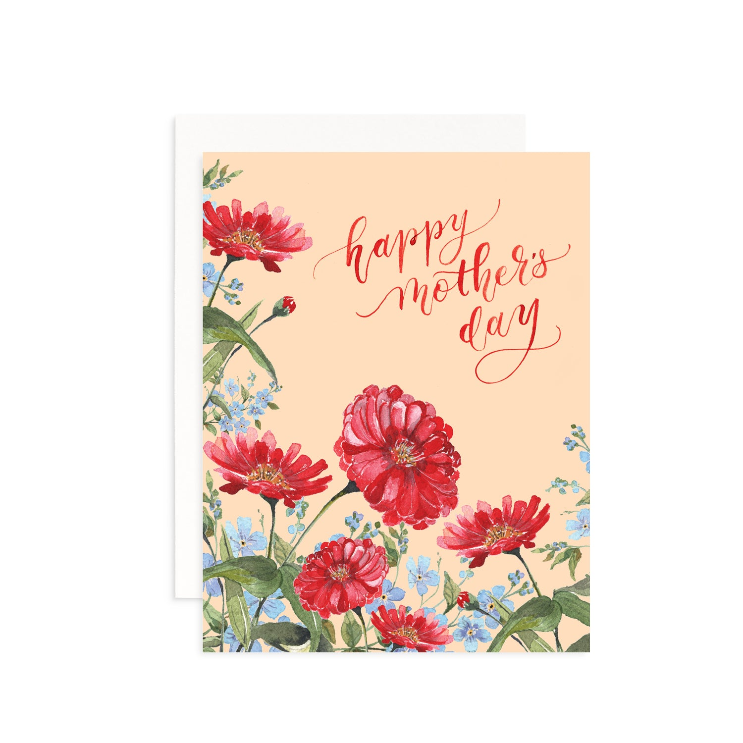 Mother's Day Floral Watercolor Greeting Card