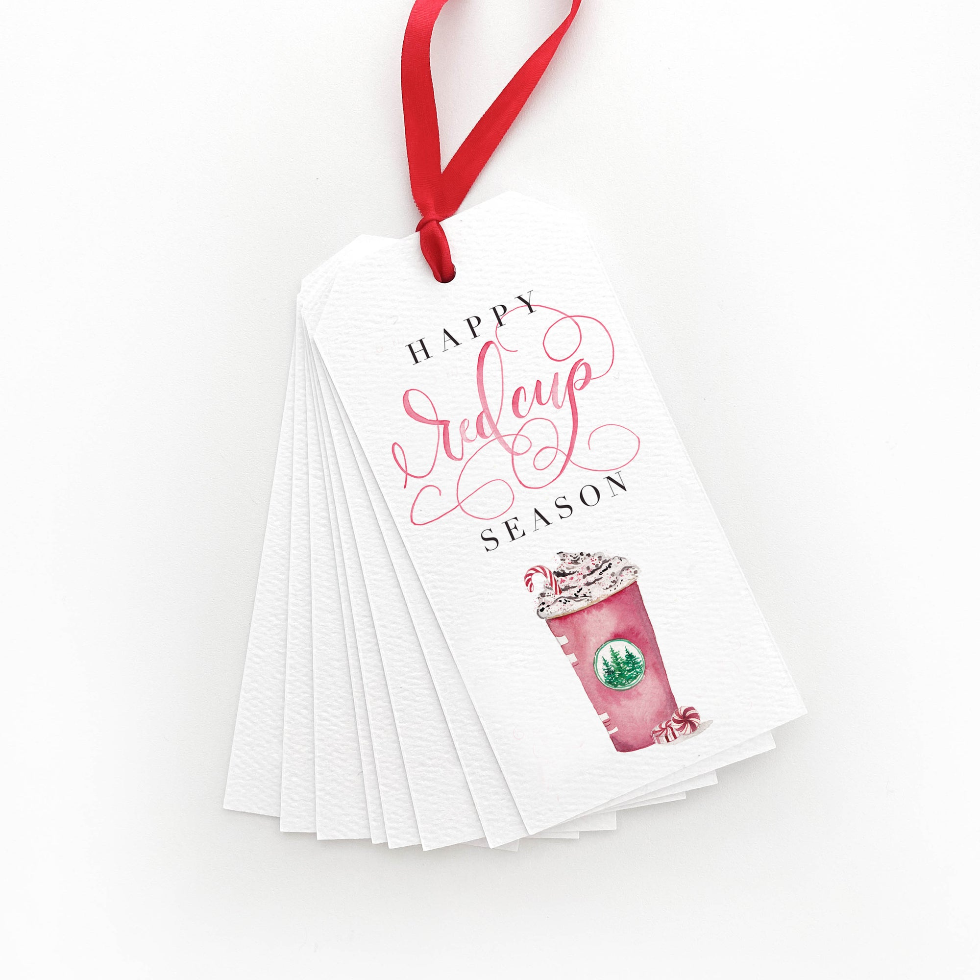Happy Red Cup Season Gift Tags