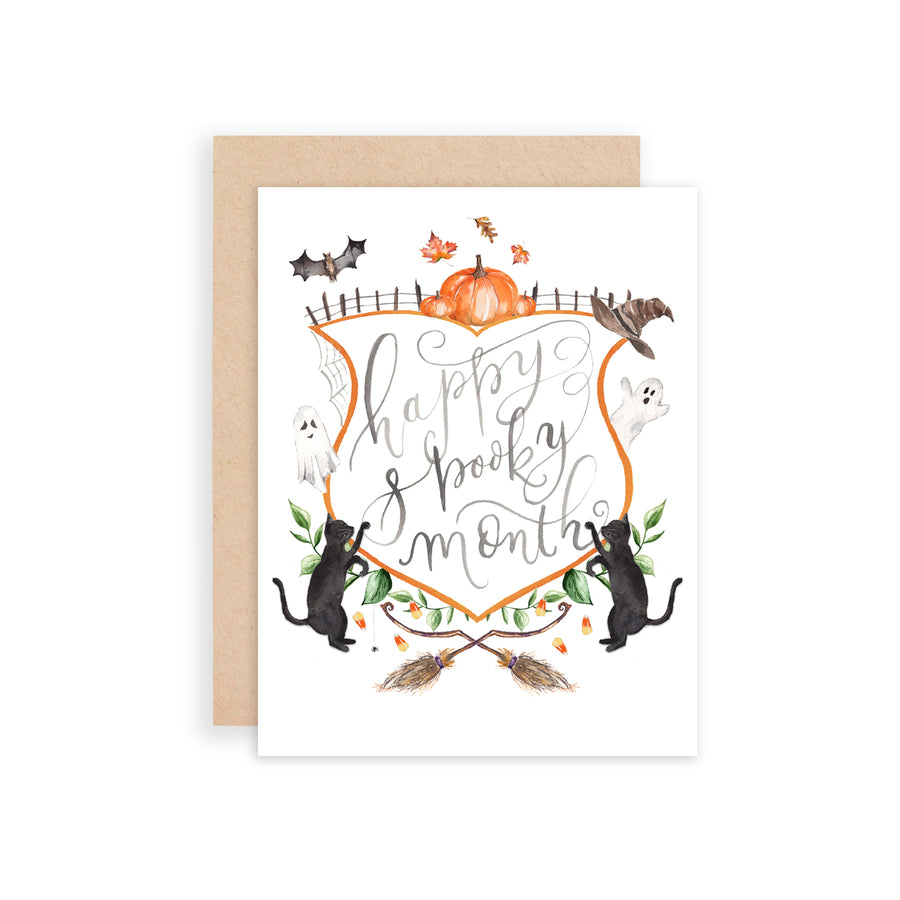 Happy Spooky Month Greeting Card