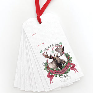 Moosletoe and Holly Gift Tags