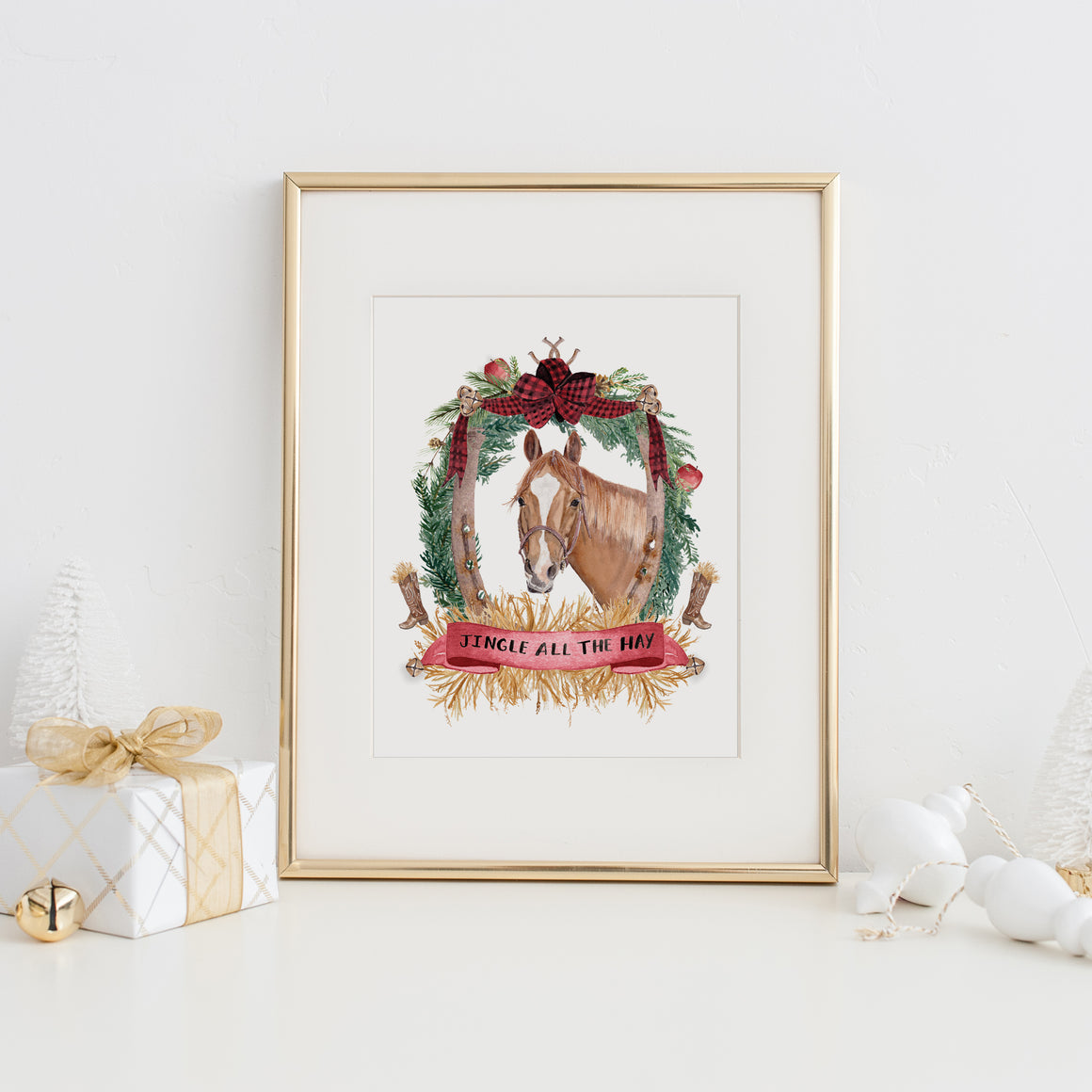 Jingle all the Hay Art Print