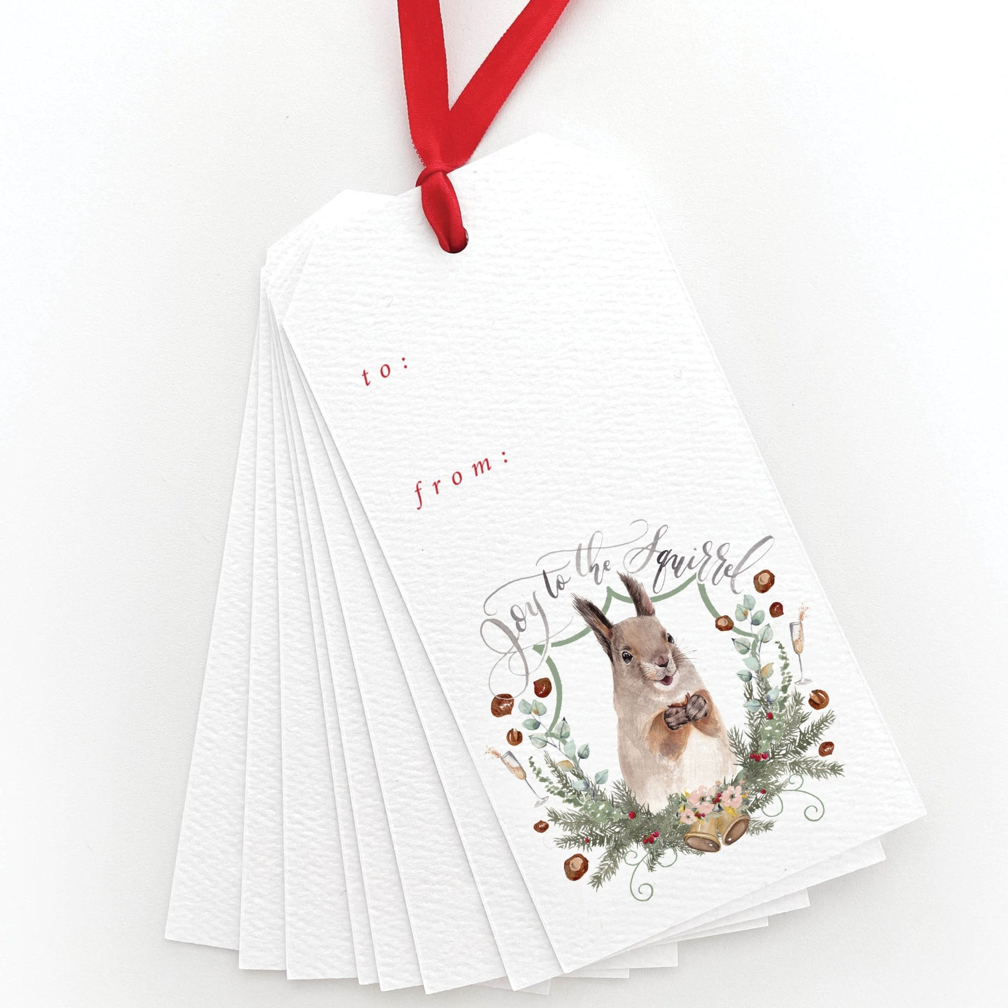 Joy to the Squirrel Gift Tags