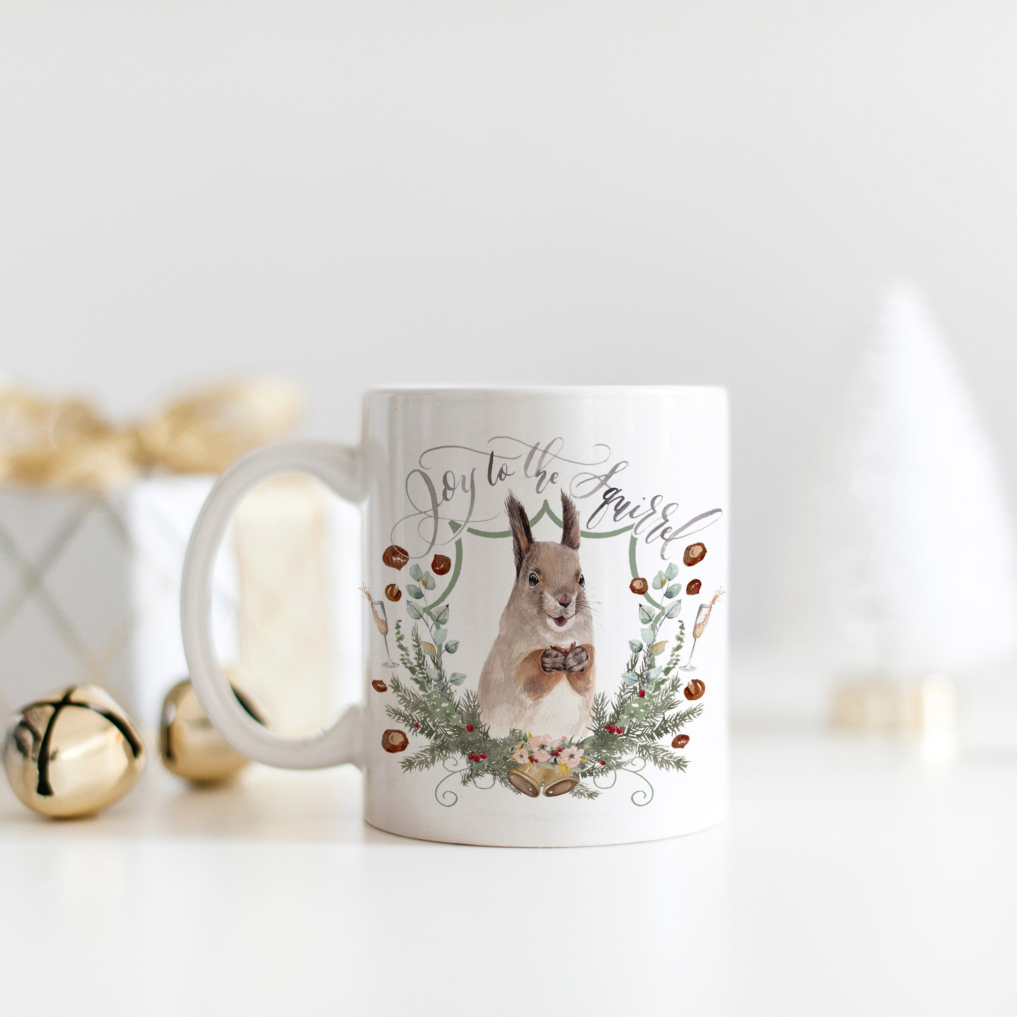 Joy to the Squirrel Mug