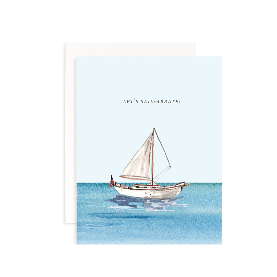 Let's Sail-abrate Greeting Card