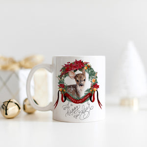 Happy New Deer Christmas Mug
