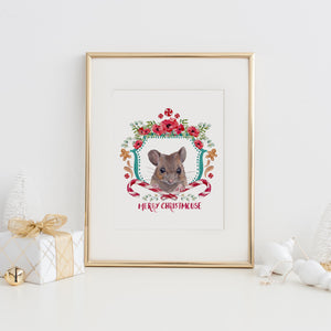 Merry Christmouse Art Print