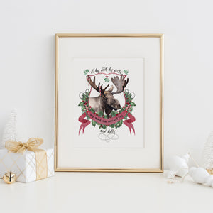 Moosletoe and Holly Art Print