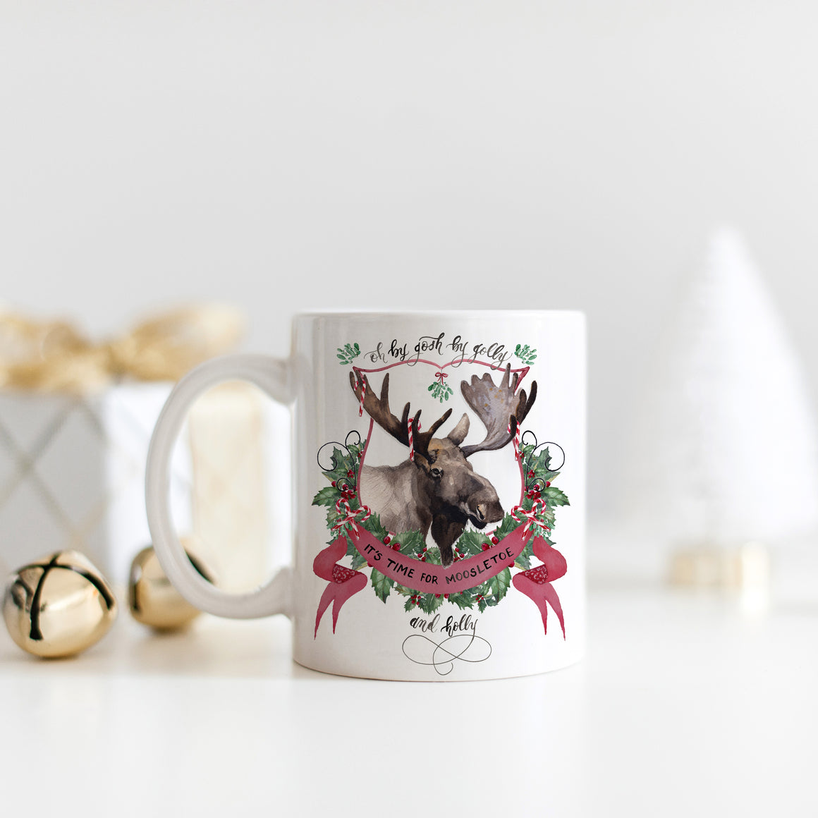 Moosletoe and Holly Mug