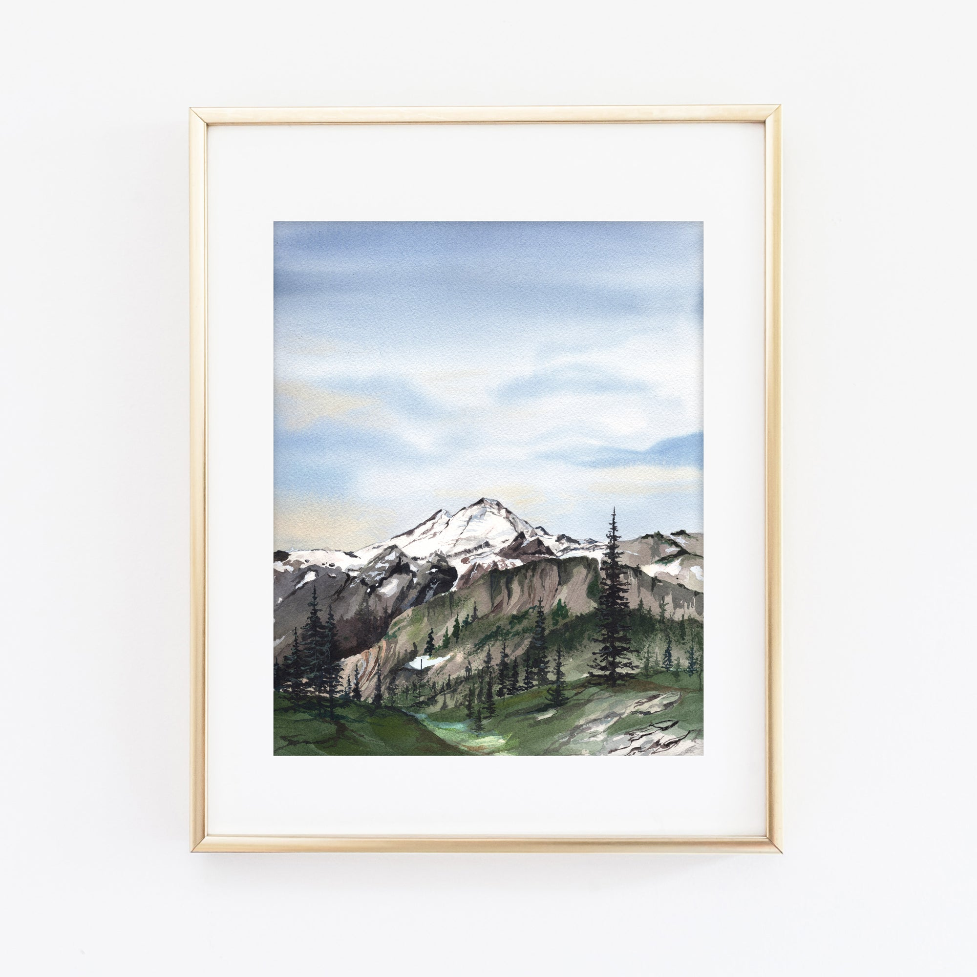 Mt. Baker Washington Art Print