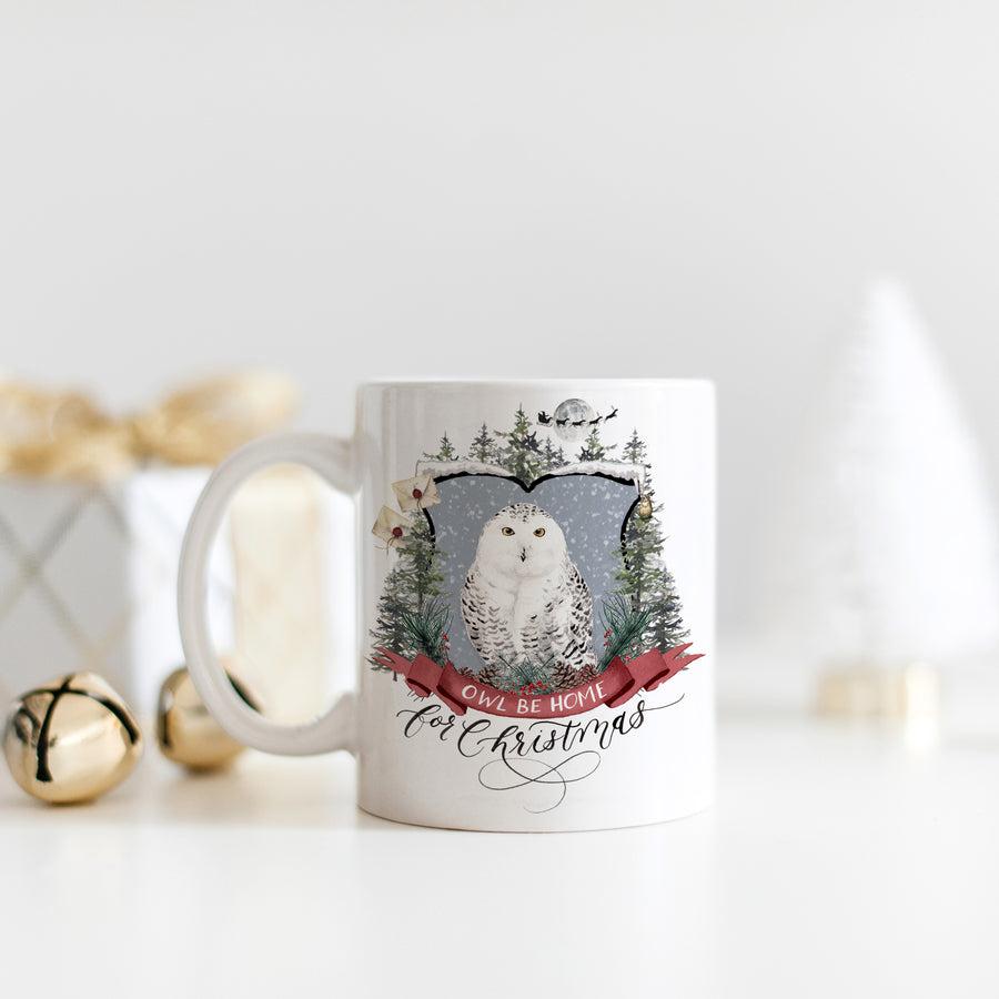 Owl Be Home for Christmas Mug