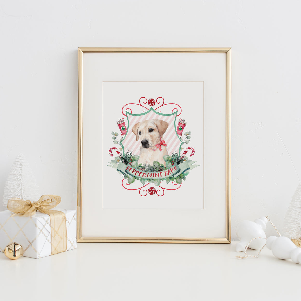 Peppermint Bark Art Print