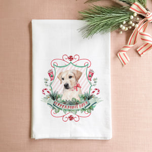 Peppermint Bark Tea Towel