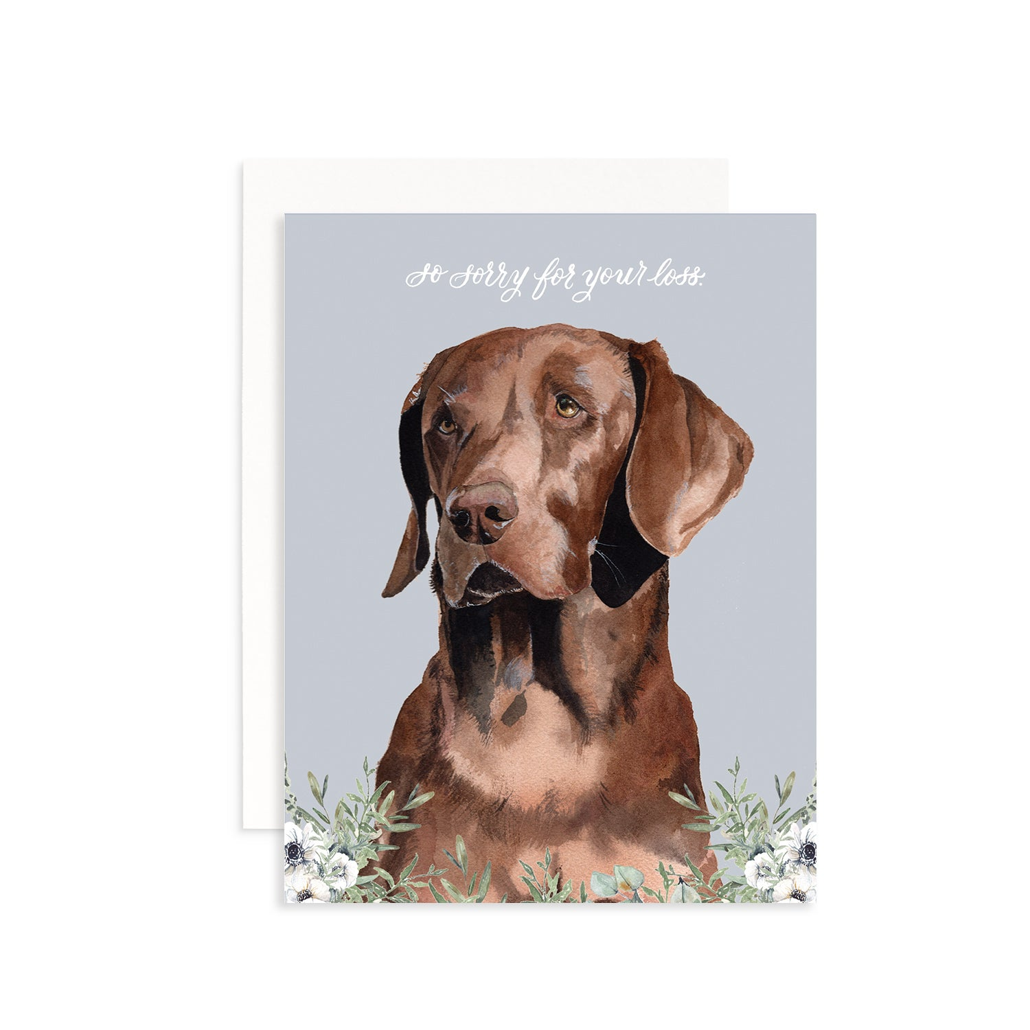 So Sorry for Your Loss (Dog) Greeting Card