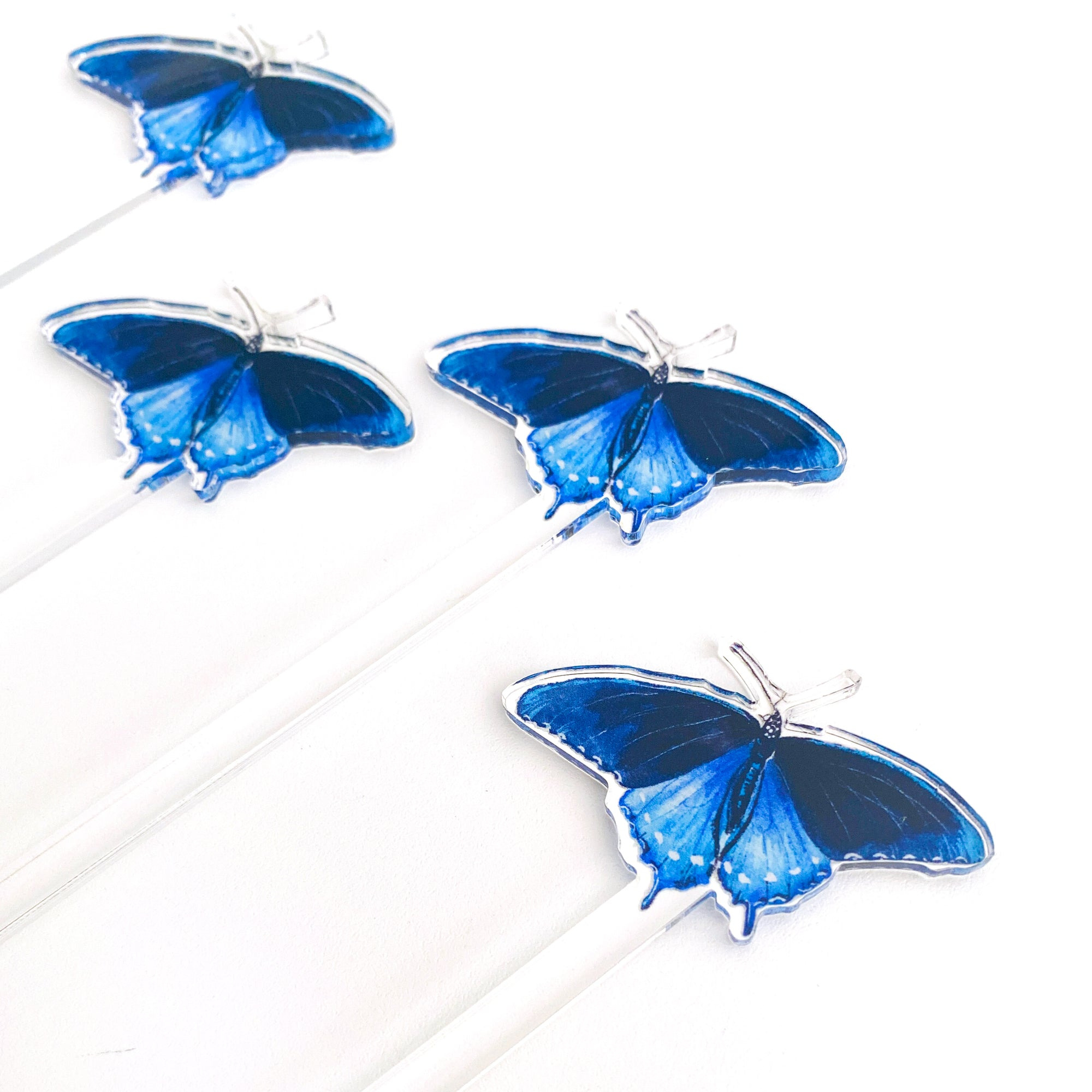 Pipevine Swallowtail Butterfly Acrylic Stir Sticks