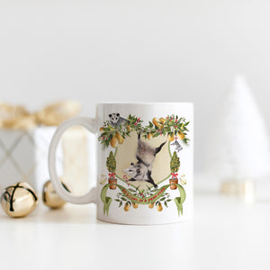 Possum in a Pear Tree Christmas Mug
