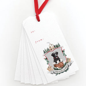 Pup on the Housetop Gift Tags