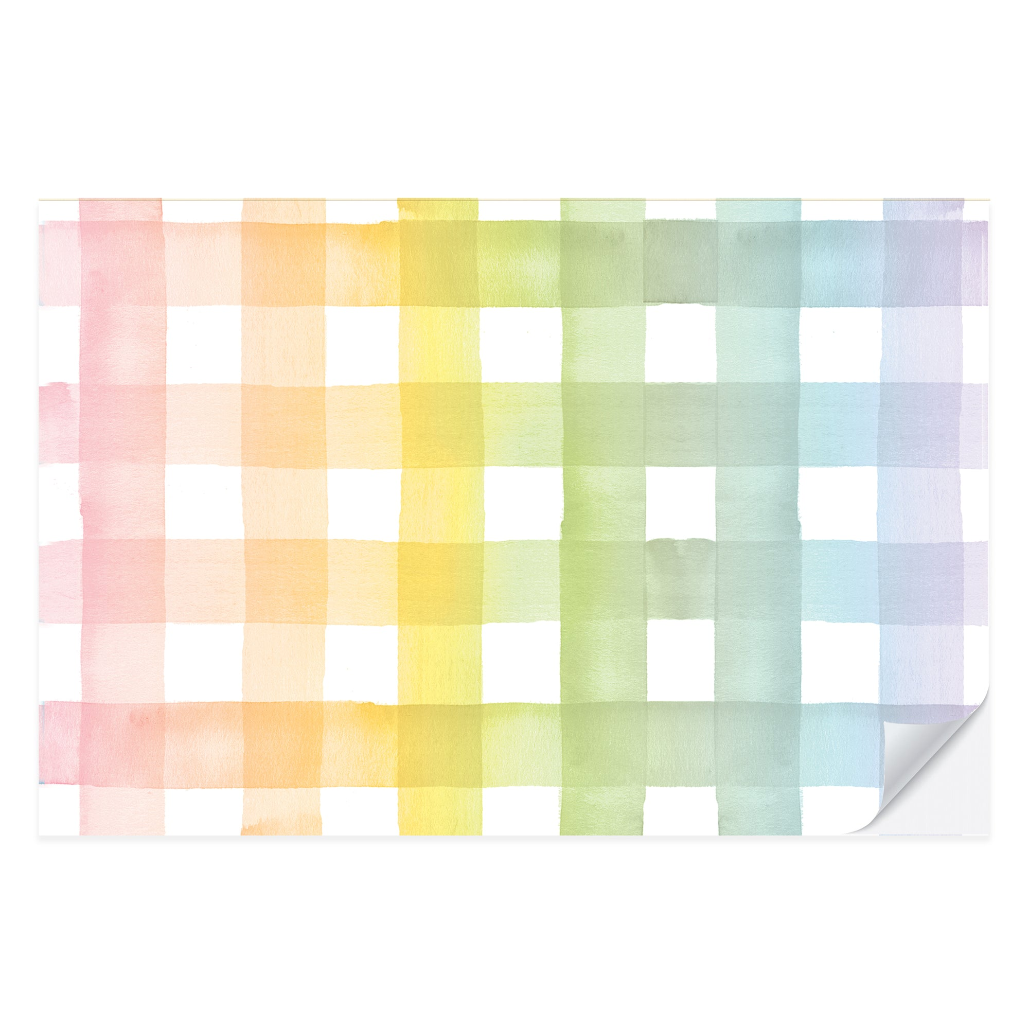 Rainbow Gingham Placemat Pad