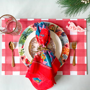 Red Gingham Placemat Pad