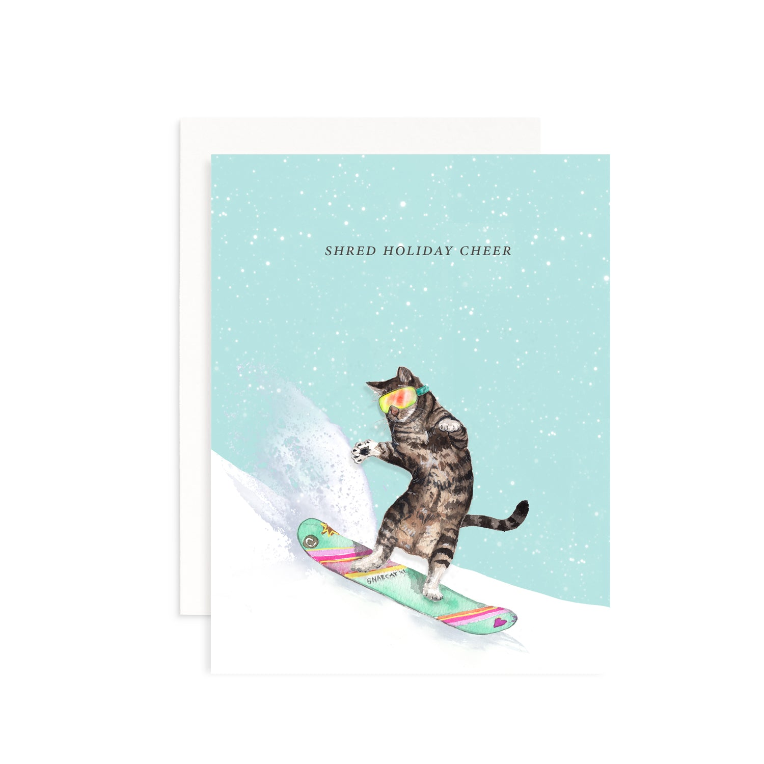 Shred Holiday Cheer Greeting Card