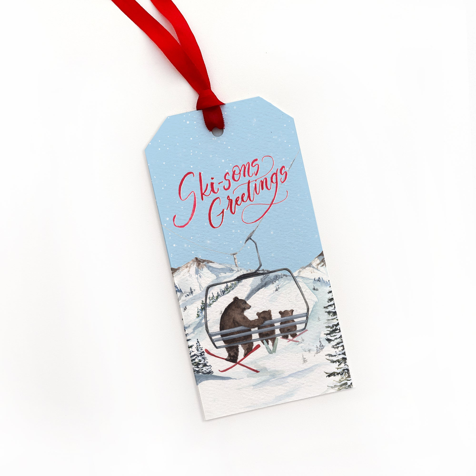 Ski-sons Greetings Gift Tags