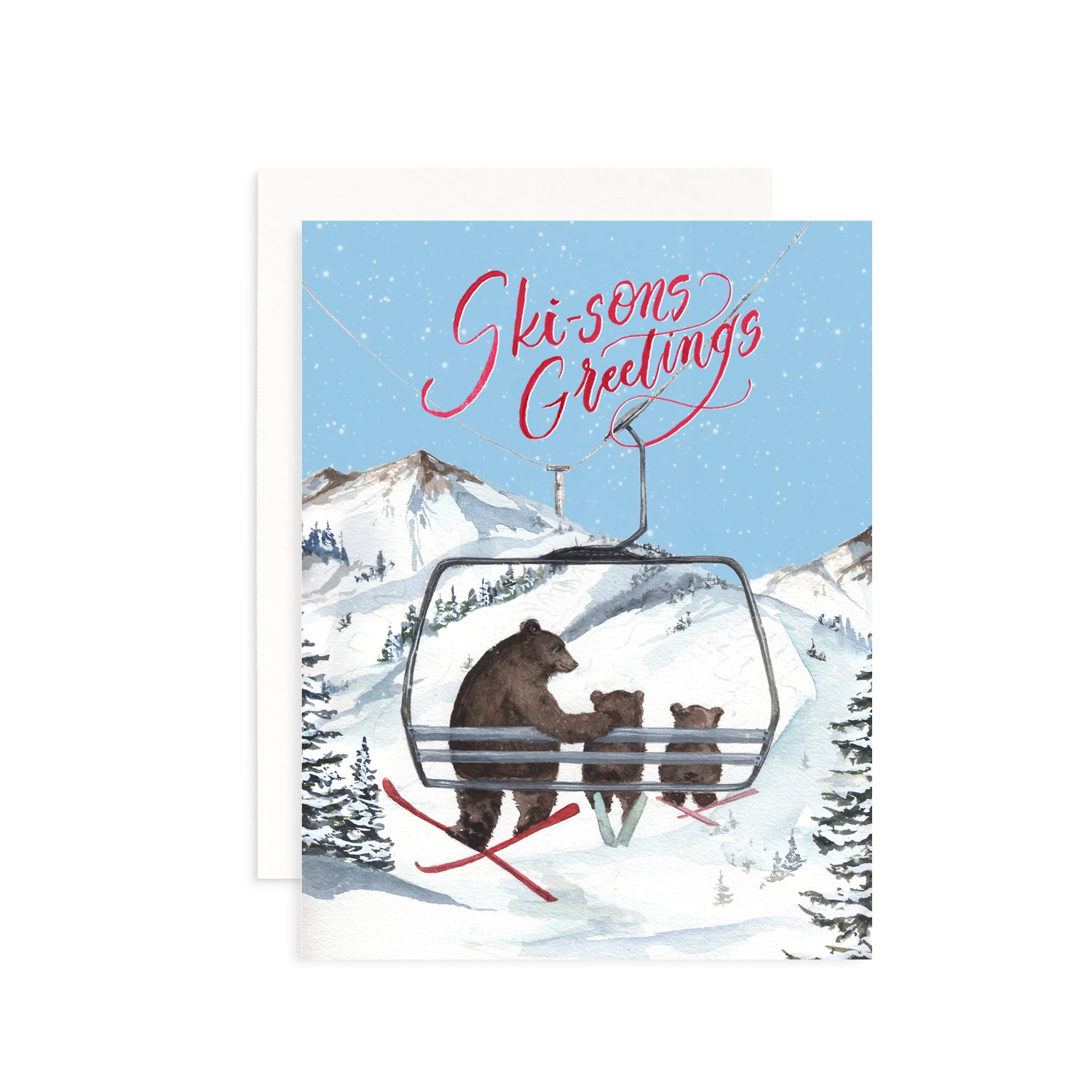 Ski-sons Greetings Card