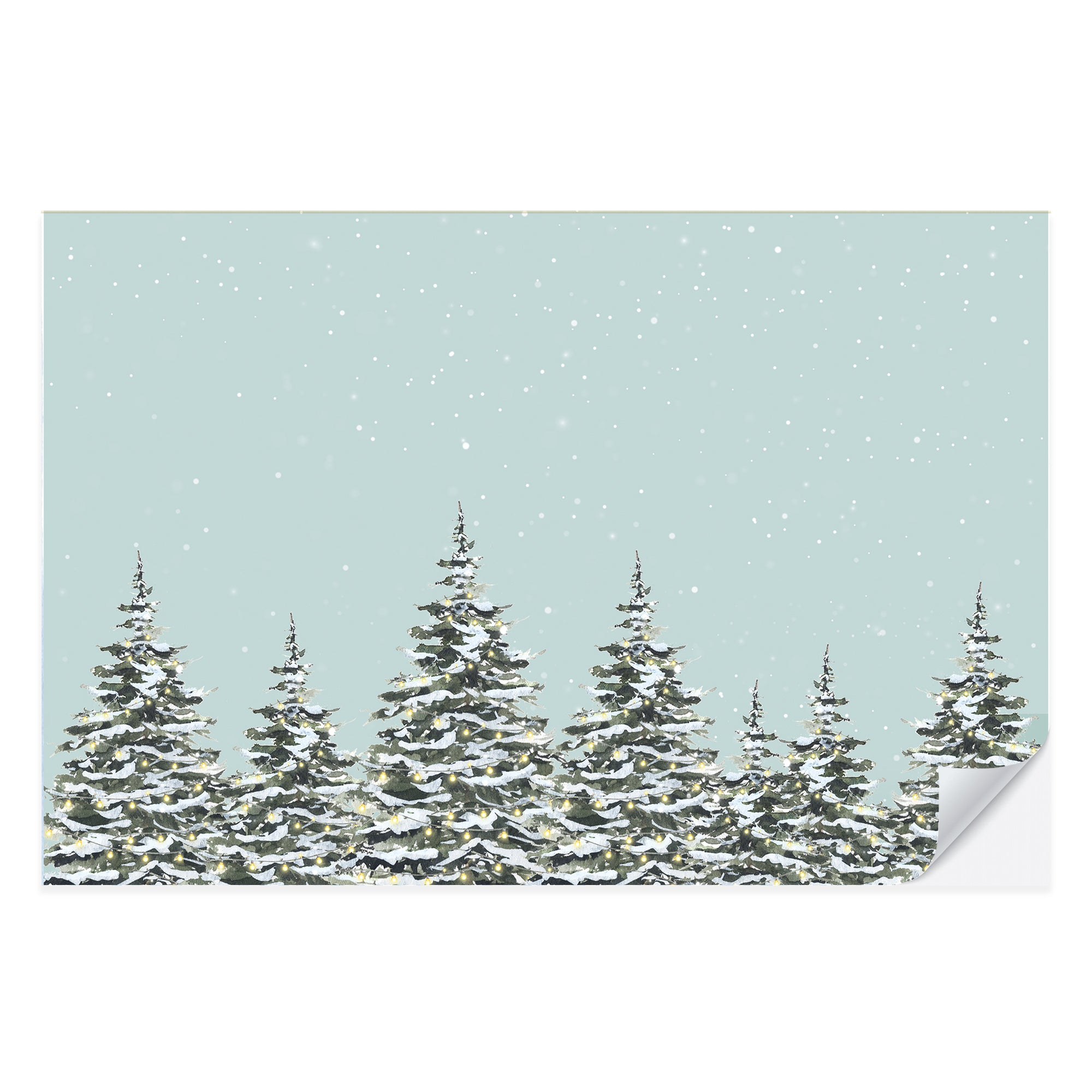 Snowy Trees Placemat Pad